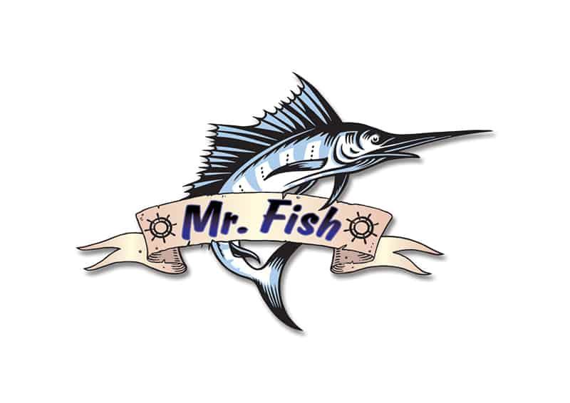 Mr. Fish лого изготвеотивирахме и постигнахме тази визия за лого на ресторанта. За интериорния дизайн на Mr. Fish заложихме на изчистения, дизайн и доб, авихме мо, рски мотиви.но от Muse Creativity подготвено за ресторант в курортното градче Китен