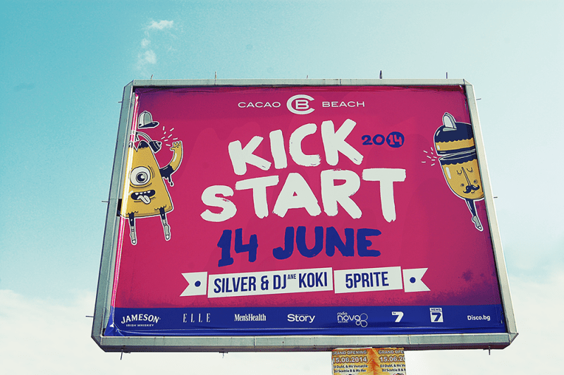 Cacao Beach Kick Start 14 june vision by Muse Creativity pantone Billbord