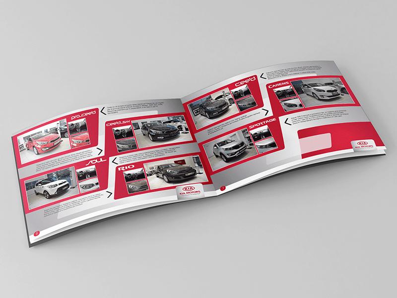 Muse Creativity създаде дизайнерски проект и печатно изпълнение на каталог за автомобилната марка KIA коли автомобили лога 7