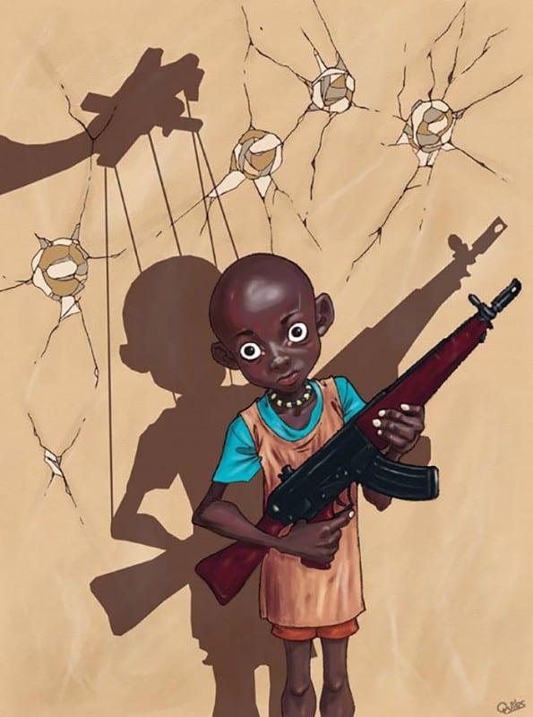 Противоречиви илюстрации от испанския художник, показват грозната страна на обществото ни - Muse Creativity рекламна агенция Бургас (5)