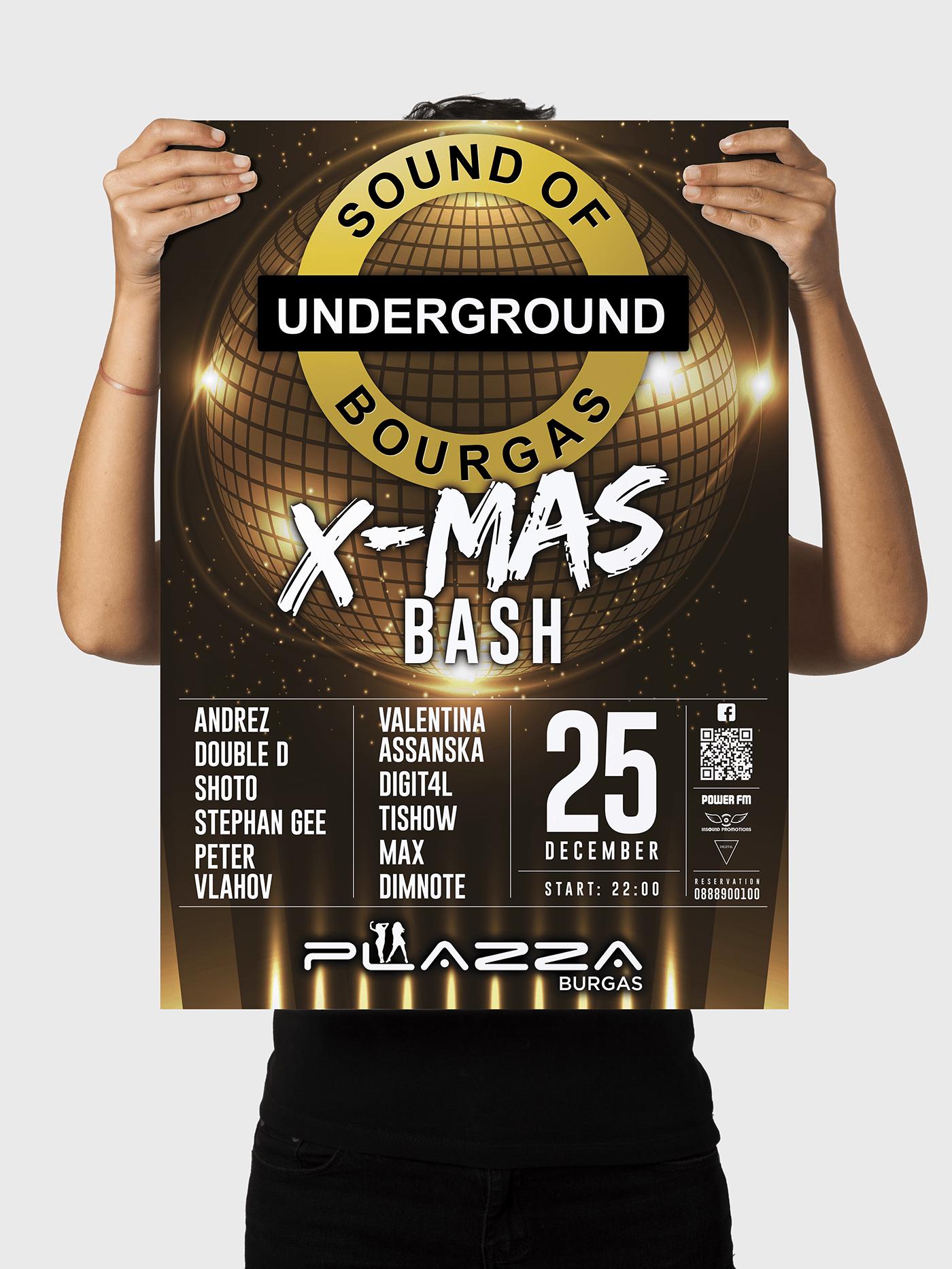 Дизайн на плакат от Muse Creativity за Underground Sound of Burgas