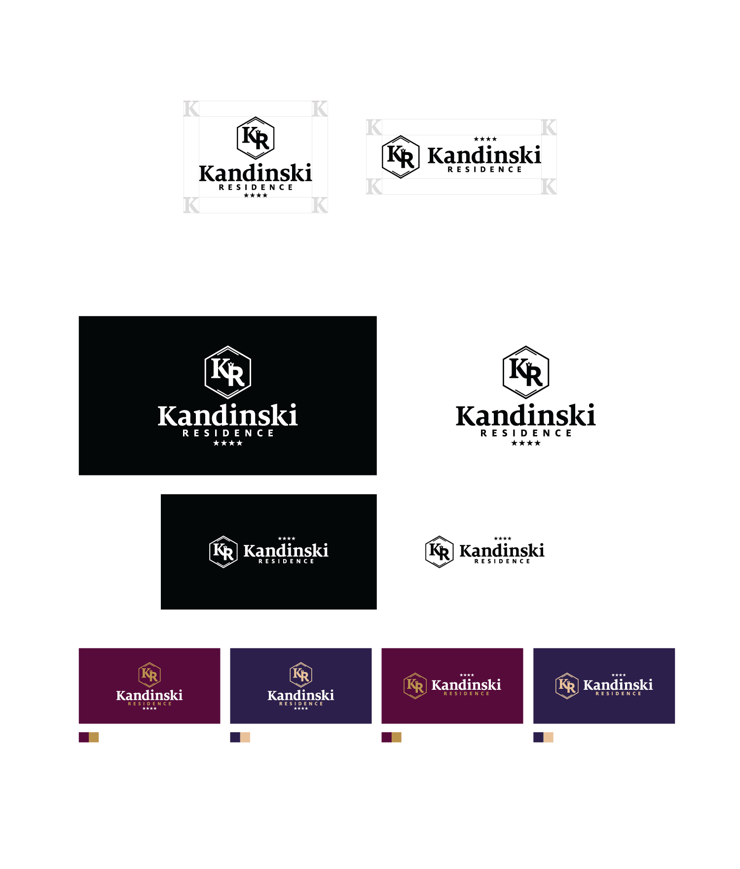 Бранд и лого дизайн на хотел Kandinski residence